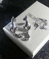 2X Final Fantasy XIII Serah Farron Earrings Cat FF Cloud Lightning Anime Cosplay
