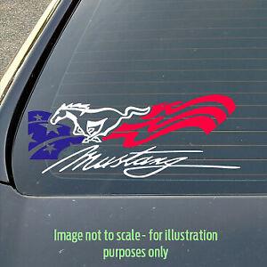 Custom 250mm Ford Mustang / V8 / Logo / Decal / Sticker