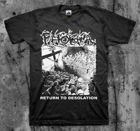 PHOBIA 'Return To Desolation' T shirt (Wormrot Insect Warfare Magrudergrind)