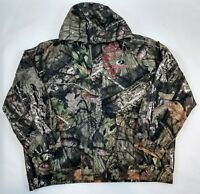 Mossy Oak Bomber Jacket Mens Hunting Green Camo Zip Lined Pockets NEW