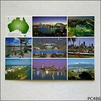 Australia's Capital Cities Postcard (A) (P486)