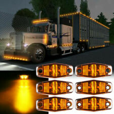 Amber 2 LED Sealed Side Marker Clearance Light Flush Mount Truck Trailer Qty 6