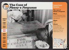 THE CASE OF PLESSY vs FERGUSON Segregation Laws 1996 GROLIER STORY AMERICA CARD