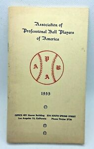 1955 APBA Association of Professional Ball Players of America Booklet