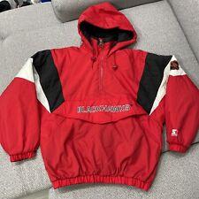 Chicago Blackhawks Vintage Starter Nhl Hockey Pullover Puffer Medium Jacket Used
