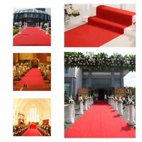 1x5M Red/White Carpet Aisle Floor Runner Wedding Hollywood Birthday Party