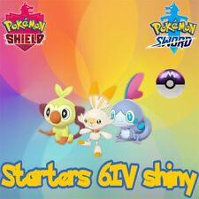 3 starters shiny 6IV + 3 masterball - 100% legit - Pokémon Epée/Bouclier 8G