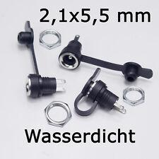 3 Stück DC-Einbaubuchse für Hohlstecker 2,1x5,5mm / Buchse Kupplung Wasserdicht