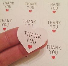 54 Thank You Heart Stickers Sheet Purchase Labels Packaging Parcel Thank You