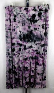 Karen Kane Purple Tie Dye Slim Fit Flared Maxi Mermaid Skirt Plus Size 2X