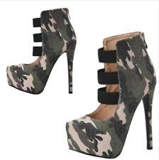 Europe Women Punk Platform Round Toe Stilettos High Heel Outdoor Shoes 44/47 L