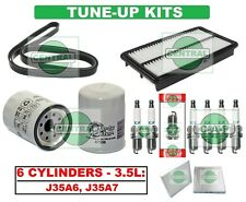 TUNE UP KITS 05-07 HONDA ODYSSEY (V6): BELT, SPARK PLUG; AIR, CABIN & OIL FILTER