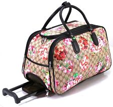 Designer Inspired Cabin Approved Trolley Hand Luggage Holdall Suitcase Bag