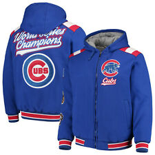 Chicago Cubs Men's 3 Time World Series Champions Full Zip Hoody Varsity Jacket
