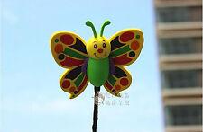 Cute Green Butterfly Antenna Balls Car Aerial Ball Antenna Topper & Decor Ball