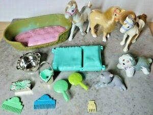 Vintage Littlest Pet Shop ( 3 Ponies, 1 dog,1 cat,& accessories)