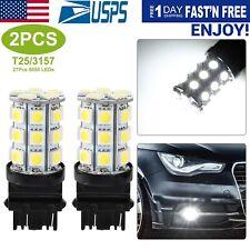 2Pcs T25/3157 5050 Backup Reverse Brake DRL Turn Signal Light Bulbs 6000K White