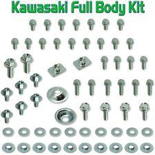 Body Bolt Original Kit Kawasaki KX 100 125 250 500 plastics f&r fenders seat
