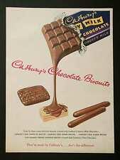 CADBURY'S CHOCOLATE BISCUITS - Vintage Full Page Magazine Advert (1953) *