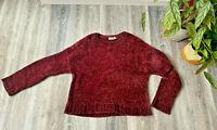 Grob gestrickter kuschelig weicher Damen Pullover von Pull&Bear M beerenfarben