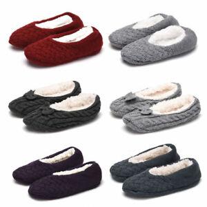 UK Ladies Womens Ballerina Ballet Knitted Winter Slippers Socks Size 5 6 7 8 9