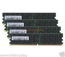 Samsung 16GB 4X 4GB PC2-5300P 2Rx4 DDR2-667MHz ECC REG RDIMM Server Memory RAM