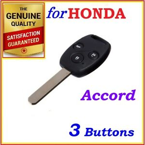 For Honda Accord and Accord Euro Remote Key - 3 Buttons