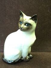 Royal Doulton Siamese Sitting Cat Figurine 1887 Crown England Kitten Blue Eyes