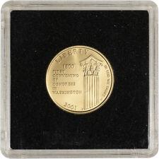 2001-W US Gold $5 Capitol Visitor Center Commemorative BU Coin in Square Holder
