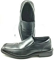 Bass Alberta Loafers Men's Size 10 D Black Leather Slip On Apron Toe Dress Shoes