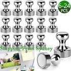 Up To 24PCS Strong Fridge Magnets Neodymium Magnetic Crafts Whiteboard Push Pins