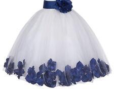 Rose Petals Lace Heart Cutout Flower Girl Dress Formal Dresses Toddler dresses