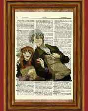 Spice and Wolf Dictionary Art Print Poster Picture Anime Holo Lawrence Horo