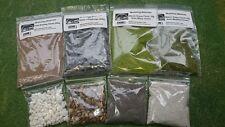 Model Basing Set - Warhammer - Slate Chippings Sand Static Grass - Set A