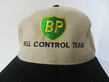 Oil Drilling Roughneck Baseball Cap Hat BP Well Control Team Beige Blk #0902