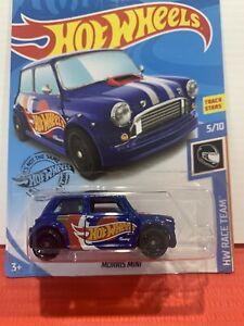 Hot Wheels Morris Mini Blue Long Card Hw Race Team 5/10