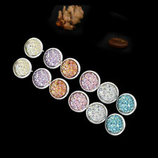 6 Pairs Stainless Steel Shiny Austrian Crystal Round Stud Earrings Jewelry Set H