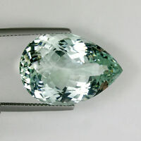 29.69 ct VERY RARE HUE 100% NATURAL UNTREATED GREEN BLUE TOPAZ - Pear # 3291