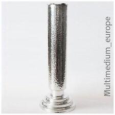 Art Déco métal vase plaqué argent Coup de marteau Design Métal vase