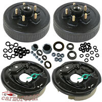 """5 on 4.5 Trailer Hub Drum with Electric brakes 10""""X2-1/4"""" Kits For 3500 lbs axle"""