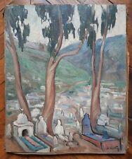 Ancien tableau orientaliste - Cimetière El KETTAR, Alger, Oued Koriche, Algérie