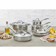 J.A. Henckels International 10-piece Tri-ply Real Clad Stainless Cookware Set