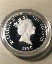 1990 New Zealand Treaty Of Waitangi Sterling Silver Proof 150th Anniversary Coin