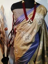 Jute silk Bollywood Sari Women's Special Wear Indian Wear Designer Sari I 13-1