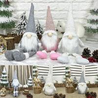 Christmas Party Decor Gnome Hanging Ornament Pendant Plush Doll Xmas Tree Gift