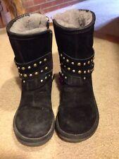 Women's UGG Clovis Black  Studded Boots  RARE!  Size 5 Some Salt  Condition