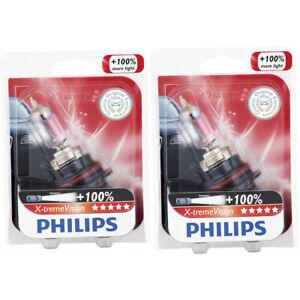 2 pc Philips 9007XVB1 XtremeVision Headlight Bulbs for 9007NHP/BP 9007SZ wg