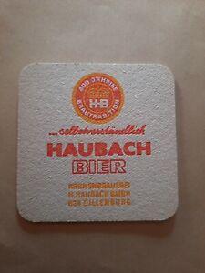 Bierdeckel Haubach Bier  - Dillenburg