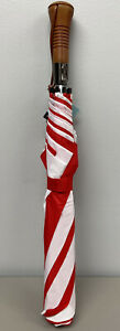 """NEW Compact 60"""" Rainkist Umbrella Automatic Opening Wind resistant Red/White"""