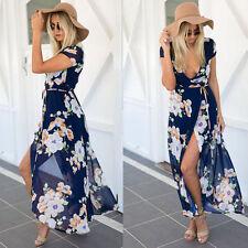Unbranded Chiffon V Neck Maxi Dresses for Women